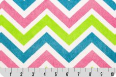 Large Chevron - Fuchsia & Lime