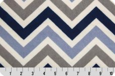 Large Chevron - Denim & Navy