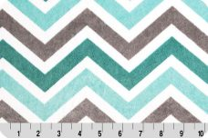 Large Chevron - Charcoal & Topaz