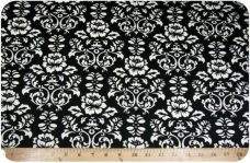 Damask #2 - White on Black