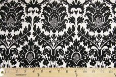 Damask #3 - Black on White