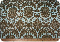 Damask #3 - Mint & Brown