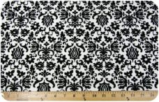 Damask #4 - Black on White