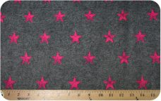 Denim Stars - Fuchsia
