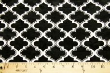Moroccan Tile - Black / White