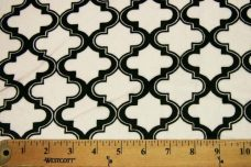 Moroccan Tile - White / Black