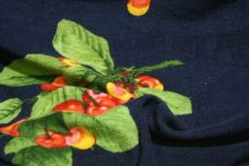 French Terry Cherries - Navy