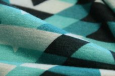 Teal Geometric Stripe Jersey