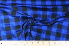 Medium Gingham Stretch Knit - Royal