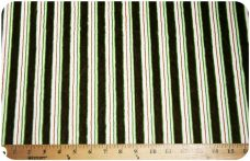 Various Stripe - Green & Chocolate