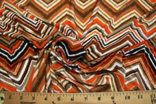Chevron Spandex - Orange
