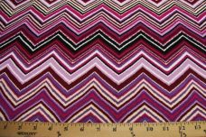 Chevron Spandex - Purple
