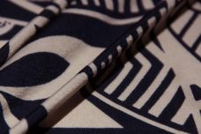 Navy & Putty Geometric Hawaiian Spandex