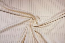White & Brown Pinstripe Ticking Twill