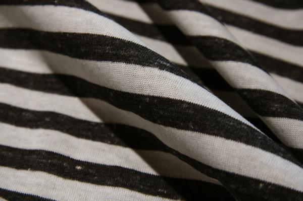 Charcoal & Ivory Double-sided Stripe Knit