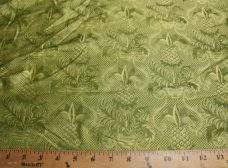Light Green ornate Pineapple Print Silk