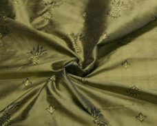 Gold & Black Pineapple Pattern Duponi Silk