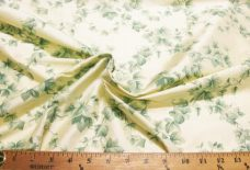 Cream Vine Printed Duponi Silk