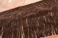 "5 1/8"" Double-sided Bordered Faux Suede Fringe - Brown"