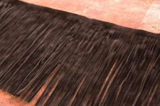 "6 1/8"" Double-sided Faux Suede Fringe - Espresso"