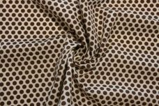 Brown & Ecru Polkadot Cotton