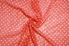 Medium Polkadot Chiffon - Flame