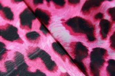 Cheetah Chiffon - Hot Pink