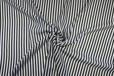 "1/4"" Stripe Georgette - Black & White"