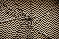 Small Chevron Georgette - Beige & Black