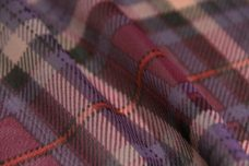 Plaid Chiffon - Purple & Red
