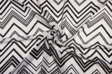 Various Chevron Chiffon - Black & White