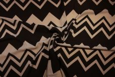 Jumbo Various Chevron Georgette - Black & Beige