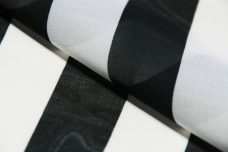 "1"" Stripe Chiffon - Black & White"