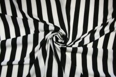 "1"" Stripe Georgette - Black & White"