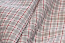 Red & Ash Small Poly/Cotton Plaid