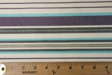 Lightweight Poly/Cotton Stripe - Purple & Turquoise