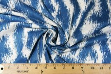 Blue & White Abstract Grunge Cotton