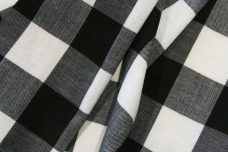 "1.5"" Buffalo Plaid Poly/Cotton - Black & White"