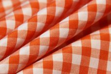 "1/4"" Gingham Poly/Cotton - Tangerine"