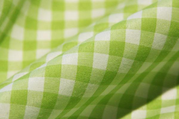 """1/4"""" Gingham Poly/Cotton - Lime"""