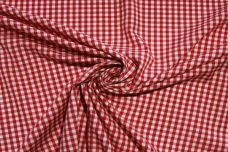 "1/8"" Gingham Poly/Cotton - Scarlet"