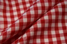 "1/4"" Gingham Poly/Cotton - Scarlet"