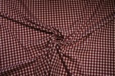 "1/4"" Gingham Poly/Cotton - Wine"