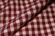 """1/4"""" Gingham Poly/Cotton - Wine"""
