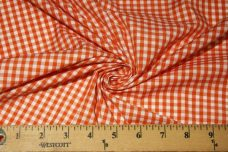 "1/8"" Gingham Poly/Cotton - Tangerine"