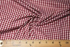 """1/8"""" Gingham Poly/Cotton - Wine"""