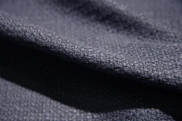 Navy Cotton Tweed