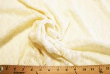 Cream Crochet Sweater Knit Wool