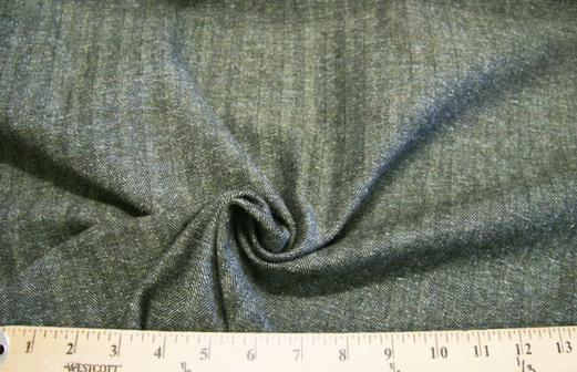 Olive Herringbone Tweed