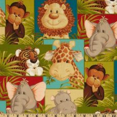 Jungle Babies Patchwork Cotton